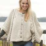 Cabled Poncho in DROPS Nepal