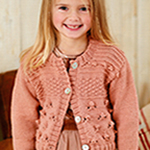 Free Pattern! Cropped Bobble Texture Cardigan by Rico