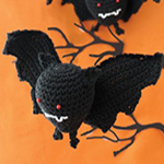 Free Pattern! Halloween Bat Crocheted in Lily Sugar 'n Cream