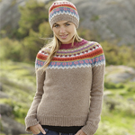 Free Pattern! Knitted Hat and Jumper with Pattern in Drops Alpaca