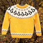 Free Pattern! Penguin Jumper knitted in Lopi Lettlopi