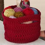 Free Pattern! Crocheted Basket in Drops Polaris