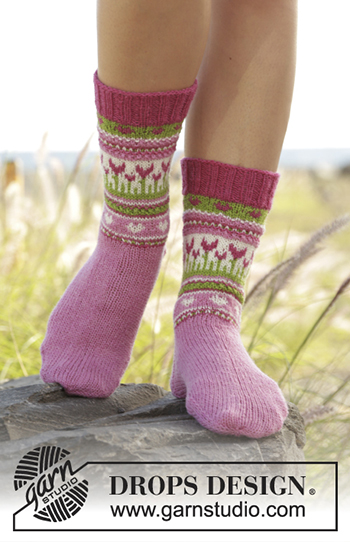 Free Pattern! 'Always Spring' Socks by Drops