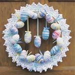 Free Pattern! Crocheted Easter Wreath in Lily Sugar 'n Cream