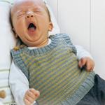 Free Pattern! 'Viggo' Baby Vest knitted in Drops Baby Alpaca Silk