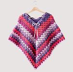 Free Pattern! Children's Poncho crocheted in Bernat Pop!