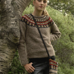 Free Pattern! 'Aftur' Jumper and Bag knitted in Lopi Lettlopi