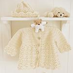 Free Pattern! Baby Jacket with Raglan & Hat with Fan Pattern