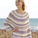 Free Pattern! Crocheted Poncho in Drops Big Merino