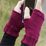 Free Pattern! Knitted Wrist Warmers in Drops Cotton Merino