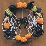 Free Pattern! Crocheted Halloween Wreath in Lily Sugar 'n Cream