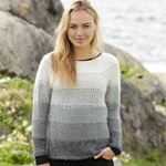 Free Pattern! Knitted Jumper with Stripes in Drops Alpaca
