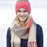 Free Pattern! Knitted Head Band and Scarf in Drops Andes