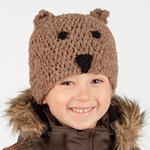 Free Pattern! Crocheted Bear Hat in Drops Alpaca Bouclé
