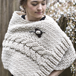 Free Pattern! Crocheted Cabled Wrap in Cascade Ecological Wool