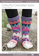 Free Pattern! Colourful Crocheted Socks in Drops Nepal