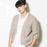 Free Pattern! 'Sucre' Knitted Cardigan in Rowan Brushed Fleece