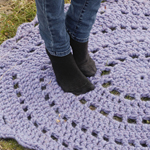 Free Pattern! Crocheted Rug in Drops Polaris