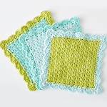 Free Pattern! Scalloped Dishcloths in Lily Sugar 'n Cream