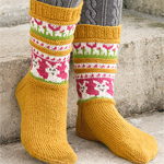Free Pattern! 'Bunny Dance' Socks Knitted in Drops Fabel