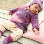Free Pattern! 'Sweet Evelina' Set Knitted in Drops Delight