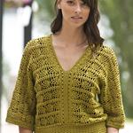 Free Pattern! Crocheted Pineapple Top in Cascade Ultra Pima
