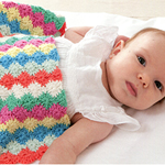 Free Pattern! Baby Blanket with Harlequin Pattern crocheted in Rico Baby Cotton Soft DK