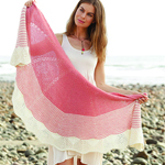 Free Pattern! 'Strawberry Sorbet' Knitted Shawl in Drops Flora