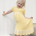 Free Pattern! 'Bright Smile' Dress knitted in Drops Cotton Merino