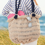 Free Pattern! 'Sea Breeze' Knitted Bag in Lily Sugar 'n Cream cotton