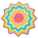 Free Pattern! Starburst Blanket crocheted in Lion Brand Mandala Baby