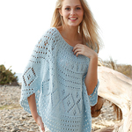 Free Pattern! 'Blue Breeze' Knitted Poncho in Drops Paris