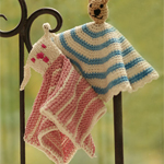 Free Pattern! 'Cuddly Friends' Crocheted or Knitted Baby Snuggle Blankets in Drops Muskat