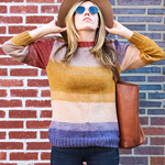 Free Pattern! 'Cobble Hill' Pullover in Lion Brand Mandala