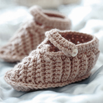 Free Pattern! 'Billy' Bootees crocheted in Rowan Baby Merino Silk DK