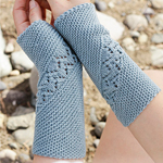 Free Pattern! 'Saskia' Wrist Warmers knitted in Drops Baby Merino