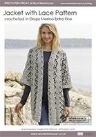 Free Pattern! Crocheted Jacket in Drops Merino Extra Fine