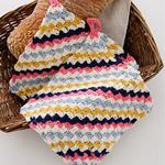 Free Pattern! Crocheted Potholder in Drops Cotton Merino