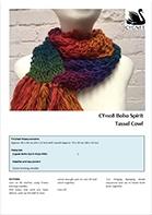 Free Pattern! Tassel Cowl knitted in Cygnet Boho Spirit