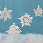 Free Pattern! Assorted Crocheted Snowflakes in Lily Sugar 'n Cream
