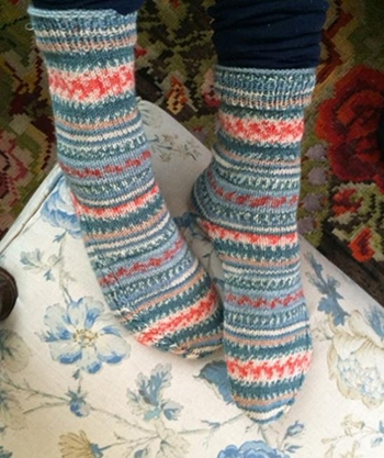 Free Pattern! Knitted Socks with Cable Detail in Regia Design Line 4 Ply