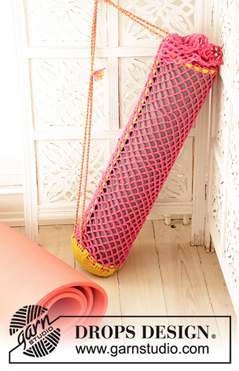 Free Pattern! Crocheted Yoga Mat Cover in Drops Merino Extra Fine
