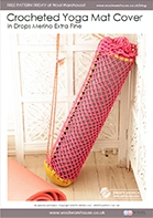 Free Pattern! Crocheted Yoga Mat Bag in Drops Merino Extra Fine