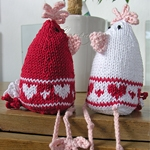 Free Pattern! Love Heart Chicks knitted in Rowan Cotton Glace
