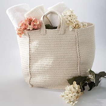 Free Pattern! Crocheted Cottage Bag in Lily Sugar n Cream Cotton