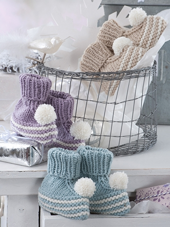 Free Pattern! Knitted Baby Bootees