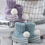 Free Pattern! Baby Bootees knitted in Regia 4 Ply