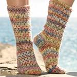 Free Pattern! Crocheted Socks in Drops Fabel