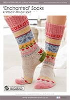 Free Pattern! 'Enchanted' Socks knitted in Drops Nord