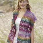 Free Pattern! 'Afternoon Walk' Stole crocheted in Drops Delight
